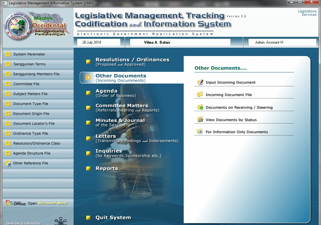 legislative tracking system Capitol impact's legislative tracking system is the premiere bill tracking platform used by organizations that need to review and communicate on legislation track bills and monitor legislation that could impact your organization while staying up to date via email notifications.