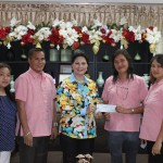 Vice Gov. Jie Jie Almonte handed over to Punong Brgy. Ann Crespatsi Quimado of Brgy. Rizal, Jimenez the financial assistance for the purchase of mono black chairs and celebration of Araw ng Rizal