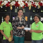 Vice Governor Jie-Jie Almonte handed over the financial assistance to Punong Barangay Anita Linsag Brgy. Dimaluna, Ozamis City for the installation of electric wirings
