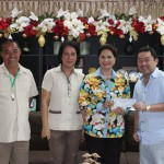 Vice Mayor Donjie Animas of the Municipality of Sapang Dalaga receives from Vice Gov. Jie Jie Almonte the Financial Assistance for the improvement of Municipal Shrine at Brgy. Caluya