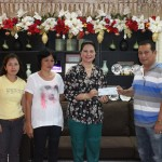 Vice Gov. Jie Jie Almonte handed over the financial assistance to Punong Brgy Jesus Mutia Sr of Brgy. Ibabao, Aloran for the improvement of multi purpose hall