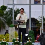 Engr. Henry Ken F. Regalado, Chairperson of the 2016 Committee on the Inaugural Ceremony, delivering his opening message