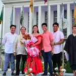 Vice-Governor Aurora Virginia M. Almonte and Congressman Jorge Almonte with their sons, Don Ian George, Julius George, and Niño George, and Administering Officer Hon. Nora L. Montejo