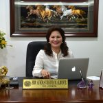Vice-Governor Aurora Virginia M. Almonte sitting prettily in her new office